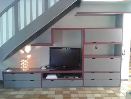 Meuble tv sous escalier - Meuble tv sous escalier ...